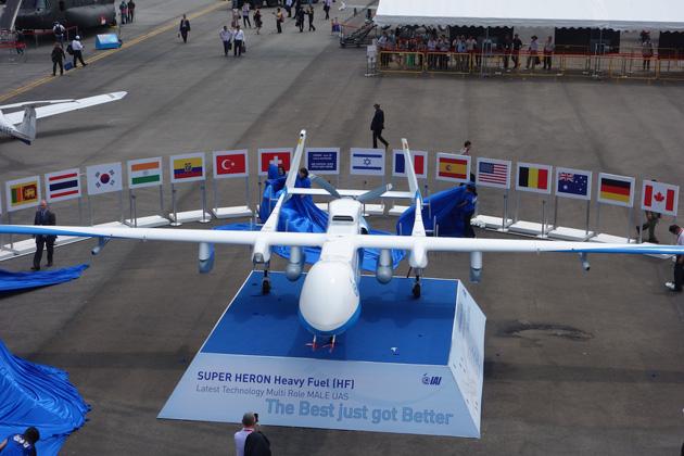 Israël dévoile un nouveau drone au salon aéronautique de Singapour