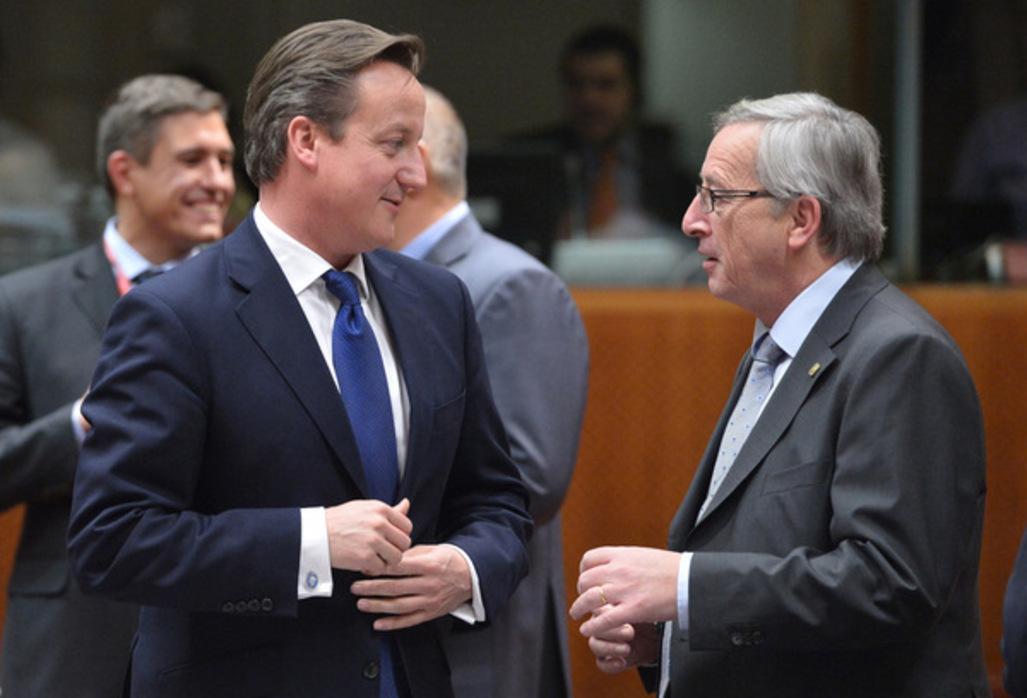 Cameron contre  la nomination de Juncker à la tête de la CE