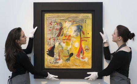 Portugal : Vente aux  enchères de la collection du peintre Miro