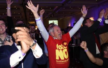 Ecosse : Victoire du « non » au référendum d'indépendance