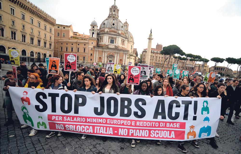 Italie : Appel de trois centrales syndicales à une grève nationale