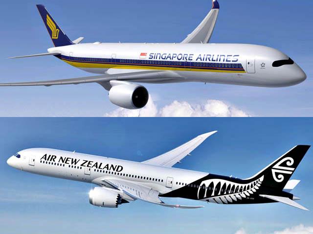 Concrétisation de l'alliance Singapore Airlines avec Air New Zealand