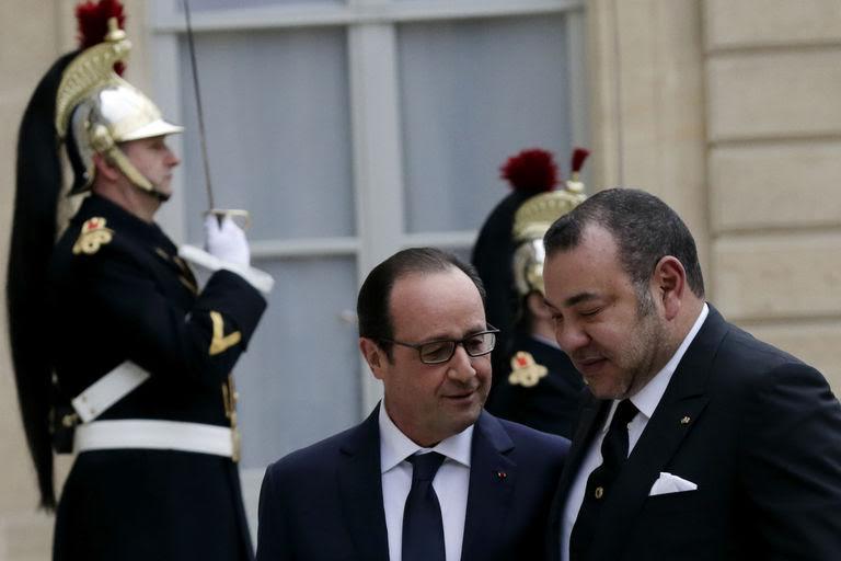 Le Roi Mohammed VI reçu à Paris par François Hollande