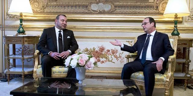 Tête-en-tête à l'Elysée entre François Hollande et le roi Mohammed VI
