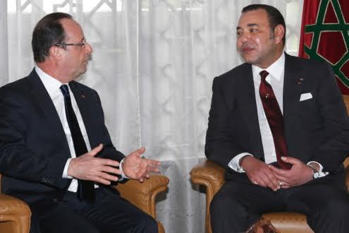 Maroc-France : entretiens Mohammed VI – Hollande à Paris