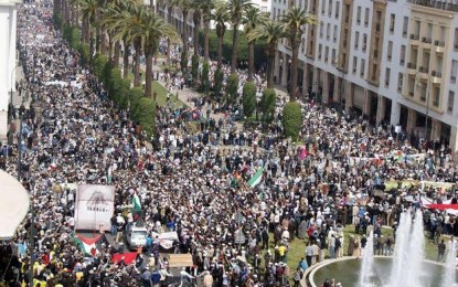 Sahara: gigantesque manifestation au Maroc contre les propos de Ban Ki-Moon