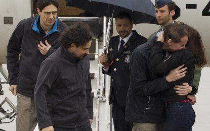 Retour en Espagne des trois journalistes enlevés en Syrie
