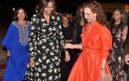 Michelle Obama et ses deux filles au Maroc