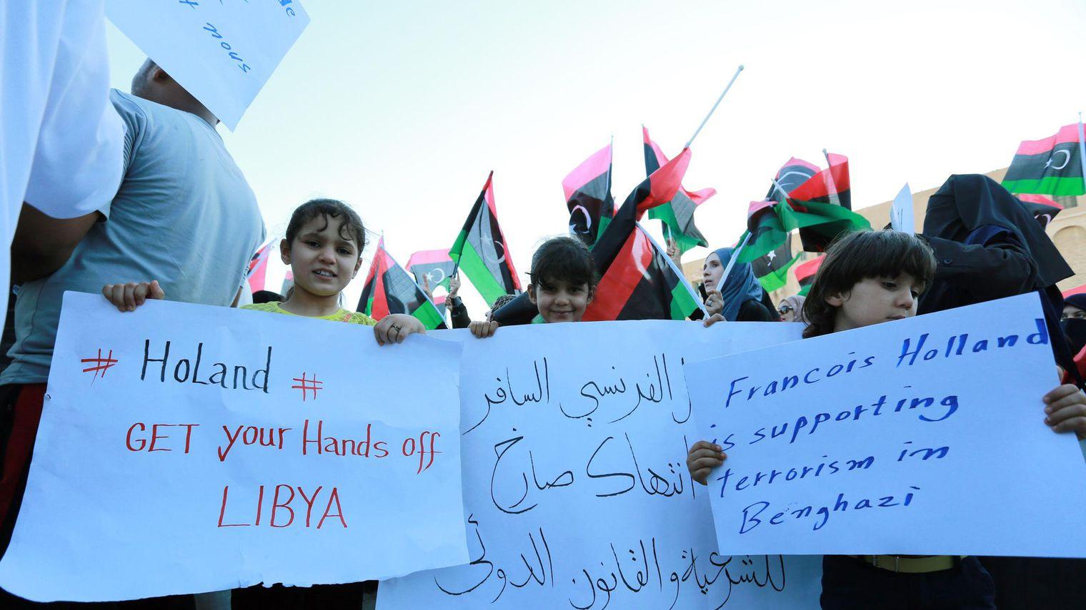 Les Libyens mécontents de la présence militaire française
