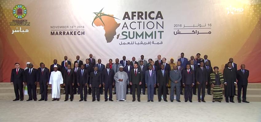 COP22: Le roi du Maroc place l'Afrique en tête de l'agenda climatique international