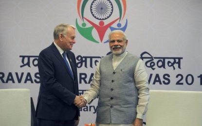 Le ministre français des Affaires étrangères en visite en Inde