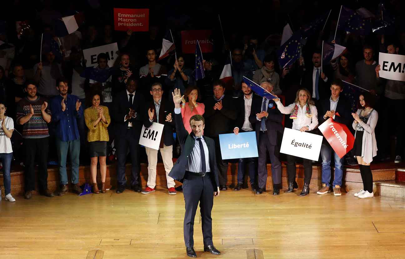 Emmanuel Macron face aux expatriés français de Londres