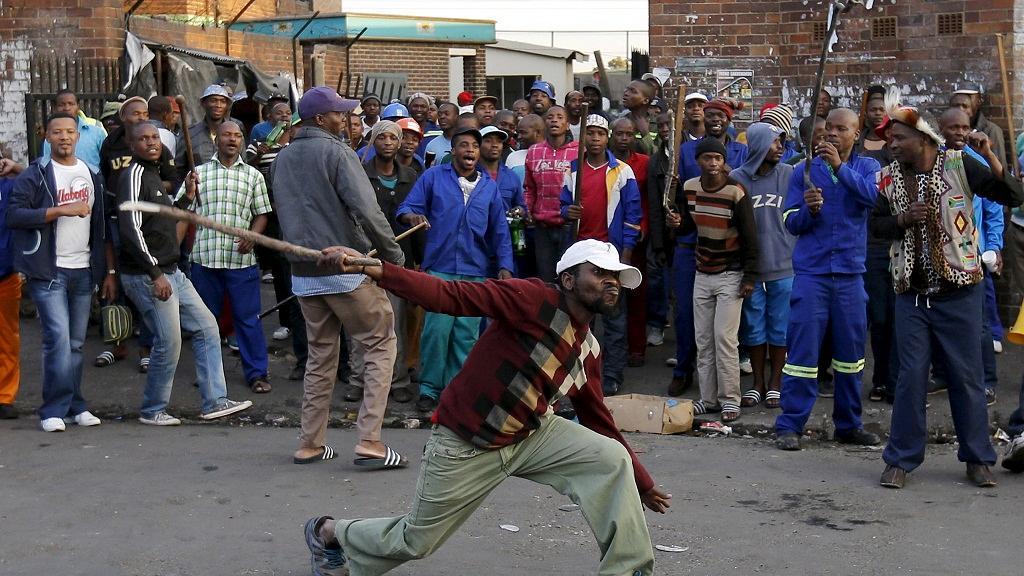 Une marche des sud-africains contre les migrants à Pretoria
