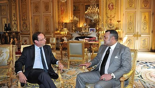 France- Maroc: Rencontre à l'Elysée  entre le Roi Mohammed VI et le président Hollande