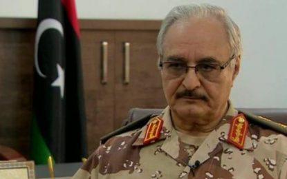 Libye : le maréchal Haftar achève un déplacement en Italie