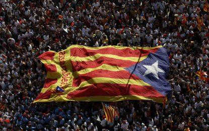 Rassemblement à Barcelone pour soutenir le référendum sur l'indépendance de la Catalogne