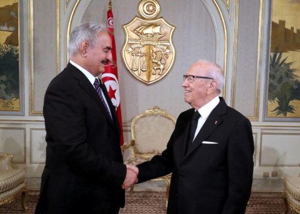 Visite du général libyen Khalifa Haftar en Tunisie