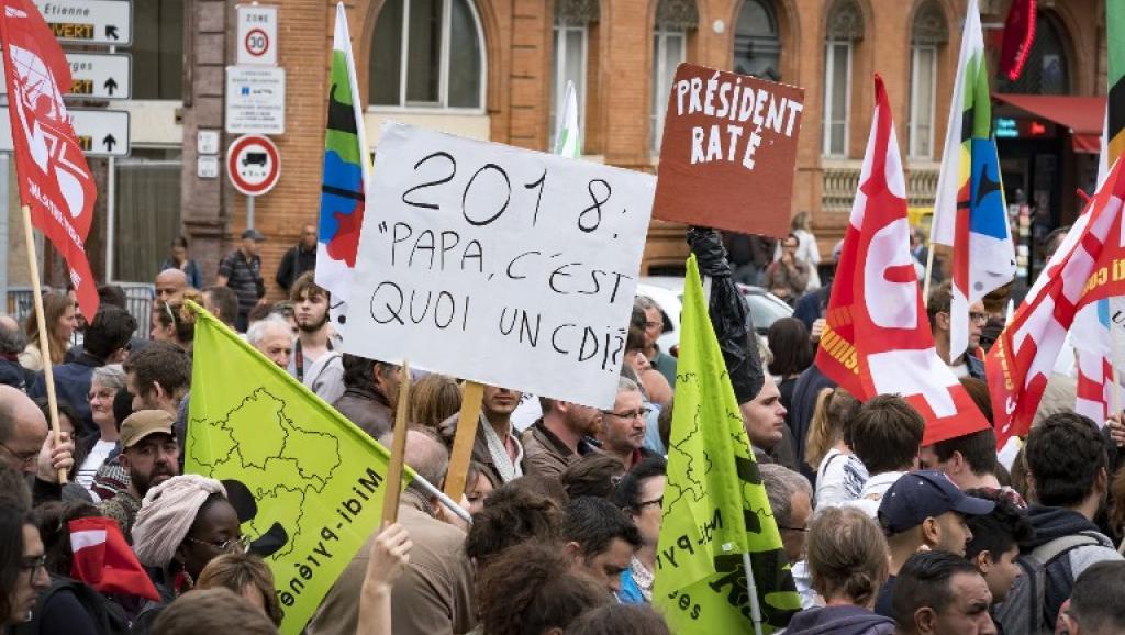 Premières manifestations des Français contre la réforme du Code du travail d'Emmanuel Macron