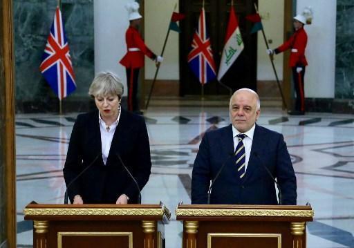Theresa May effectue une visite surprise en Irak