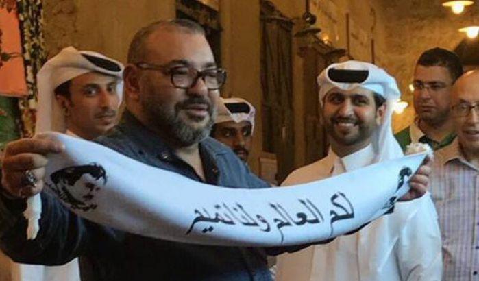 """Maroc: Une étonnante photo du roi Mohammed VI au Qatar s'avère un """"grotesque montage"""""""
