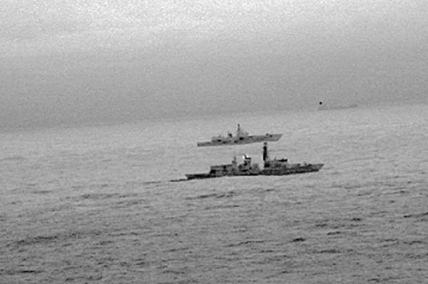 La Royal Navy donne la chasse à un navire de guerre russe en mer du nord