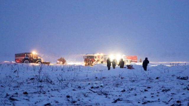 Russie : Crash d'un avion de ligne à proximité de Moscou