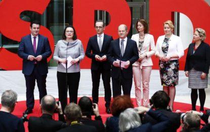 Allemagne : le SPD présente ses ministres