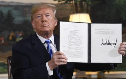 Donald Trump retire les Etats-Unis de l'accord sur le nucléaire iranien