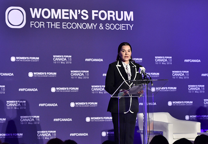 Lalla Hasanaa rend hommage au combat de la femme africaine au Women's Forum Canada