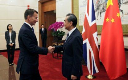 La Chine et le Royaume-Uni envisagent un accord de libre-échange après le Brexit