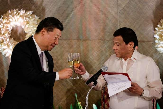 Une visite sous tension du président chinois aux Philippines