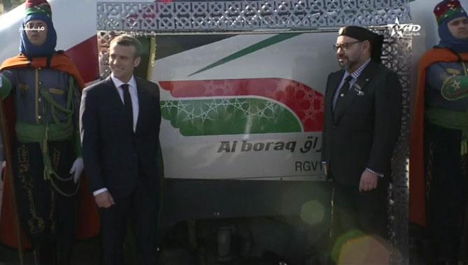 Maroc: En présence du Président Macron, le Roi inaugure la première LGV en Afrique