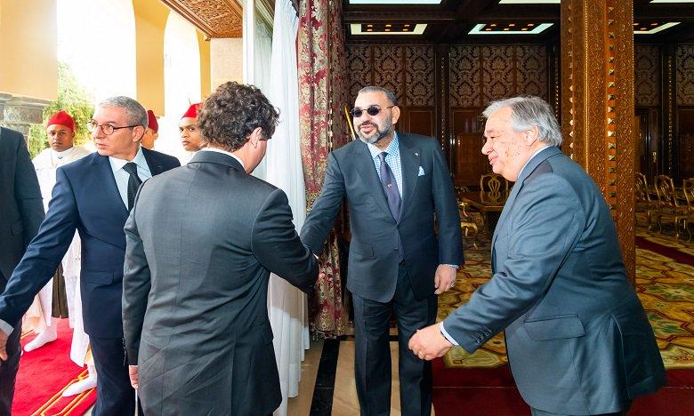 Maroc-ONU : Le Roi Mohammed VI et Antonio Guterres abordent à Rabat plusieurs sujets d'actualité