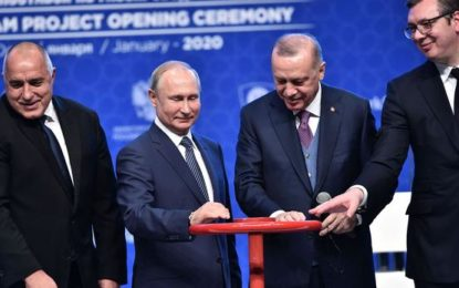 Les présidents turc et russe inaugurent le gazoduc Gazprom