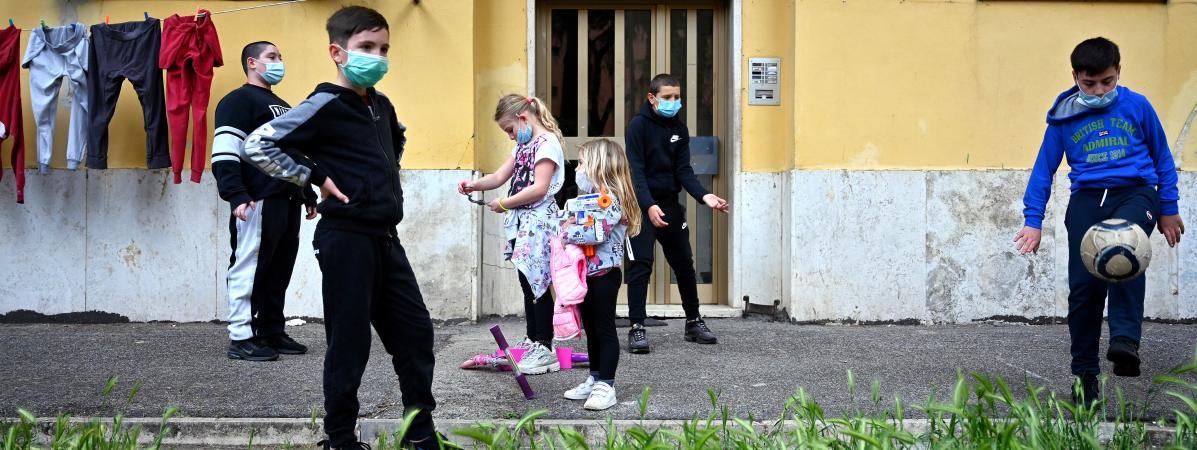 Covid-19 : Près de 700.000 enfants en Italie, en difficulté alimentaire