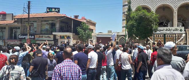 Manifestations anti-régime dans le sud de la Syrie