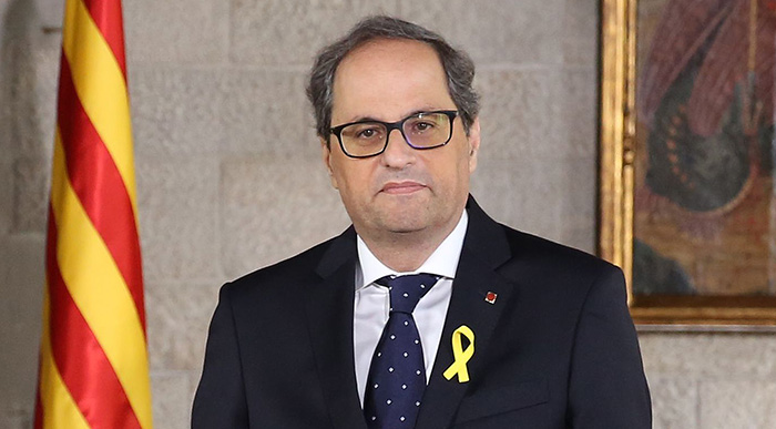 Espagne : le président régional catalan destitué