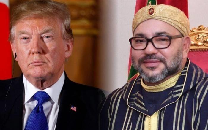 Le président américain Donald Trump décerne au Roi du Maroc la Légion du mérite