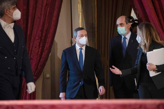 Italie : Mario Draghi officiellement chargé de mettre en place un nouveau gouvernement