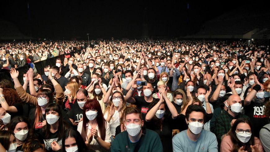 Concert de musique test à Barcelone pour une éventuelle réouverture des salles de spectacles en Espagne