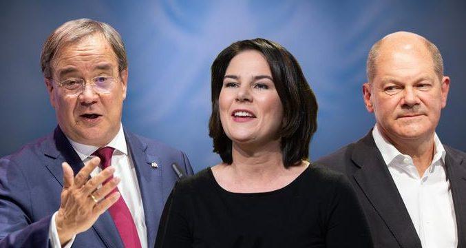 Les candidats à la chancellerie en Allemagne animent leur premier débat télévisé