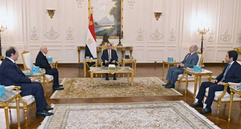 Al-Sissi reçoit le président du Parlement libyen et le général Haftar au Caire