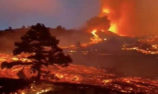 Plus de 5.000 personnes évacuées et une centaine de maisons détruites par l'éruption d'un volcan aux Canaries